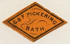 G. & F. Pickering, Bath, England (22mm x 14mm).