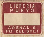 Libreria Pueyo, Madrid, Spain (24mm x 19mm, ca.1949).