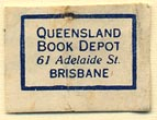 Queensland Book Depot, Brisbane, Australia (22mm x 15mm). Courtesy of Donald Francis.