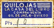Quilojas, La Casa del Libro, Oviedo, Spain (31mm x 16mm). Courtesy of Robert Behra.