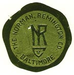 The Norman Remington Co., Baltimore, Maryland (23mm dia.).