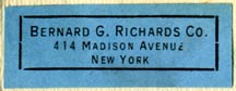 Bernard G. Richards Co., New York, NY (35mm x 13mm, ca.1922?). Courtesy of Robert Behra.