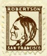 (A.M.) Robertson, San Francisco (15mm x 17mm, after 1917).