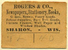 Rogers & Co., Sharon, Wisconsin (36mm x 26mm)