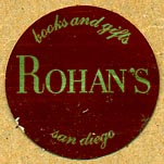 Rohan's, Books and Gifts, San Diego, California (25mm dia.)