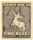 Stanley Rose, Fine Books, Hollywood, California (21mm x 26mm). Courtesy of Donald Francis.