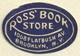 Ross' Book Store, Brooklyn, New York (17mm x 12mm). Courtesy of Donald Francis.