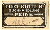 Curt Rother, Buchhandlung, Peine, Germany (27mm x 15mm). Courtesy of S. Loreck.