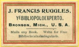J. Francis Ruggles, Bronson, Michigan (43mm x 26mm, ca.1900). Courtesy of Lewis Jaffe.