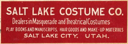 Salt Lake Costume Co., Salt Lake City, Utah (73mm x 25mm). Courtesy of Robert Behra.