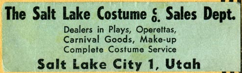 Salt Lake Costume Co., Salt Lake City, Utah (83mm x 25mm). Courtesy of Robert Behra.