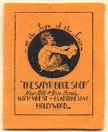The Satyr Book Shop, Hollywood, California (25mm x 31mm). Courtesy of Donald Francis.