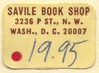 Savile Book Shop, Washington, DC (22mm x 16mm). Courtesy of Donald Francis.