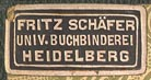 Fritz Schaefer, Heidelberg, Germany (22mm x 11mm, ca.1904).