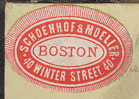 Schoenhof & Moeller, Boston, Massachusetts (19th c.).