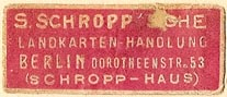 S. Schropp, Landkarten-handlung, Berlin, Germany (34mm x 13mm). Courtesy of S. Loreck.