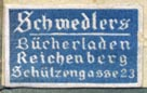 Schwedlers Bucherladen, Reichenberg, Germany (21mm x 13mm). Courtesy of Robert Behra.