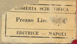 Libreria Scientifica Editrice, Naples, Italy (50mm x 29mm, ca.1946).