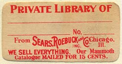 Sears, Roebuck and Co., Chicago, Illinois (40mm x 21mm). Courtesy of Donald Francis.