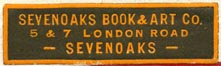 Sevenoaks Book & Art Co., Sevenoaks [London], England (37mm x 11mm). Courtesy of Robert Behra.