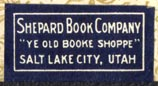 Shepard Book Company, Salt Lake City, Utah (25mm x 13mm). Courtesy of Robert Behra.
