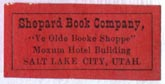 Shepard Book Company, Salt Lake City, Utah (26mm x 13mm). Courtesy of Robert Behra.