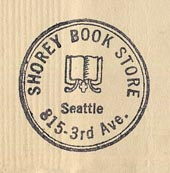 Shorey Book Store, Seattle, Washington (22mm dia., ca.1940s/50s).
