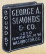 George A. Simonds & Co, Washington DC (15mm x 17mm, 1958). Courtesy of Robert Behra.