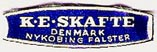 K.E. Skafte, Nykobing Falster, Denmark (25mm x 8mm, ca.1955). Courtesy of Michael Kunze.