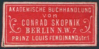 Conrad Skopnik, Berlin, Germany (32mm x 15mm, ca.1880s?).