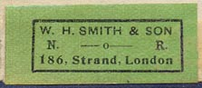 W.H. Smith & Son, London, England (35mm x 15mm).