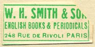 W.H. Smith & Son, Paris, France (30mm x 14mm). Courtesy of Donald Francis.