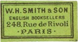 W.H. Smith & Son, Paris, France (approx 26mm x 14mm)