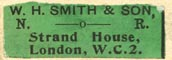 W.H. Smith & Son, London, England (27mm x 10mm). Courtesy of Robert Behra.
