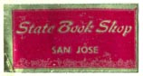 State Book Shop, San Jose [California?] (25mm x 12mm)
