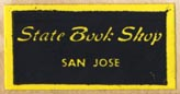 State Book Shop, San Jose, California (25mm x 13mm). Courtesy of Robert Behra.
