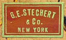 G.E. Stechert & Co., New York (21mm x 12mm, ca.1890?)