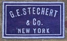 G.E.Stechert & Co.,New York (20mm x 9mm, ca.1910)