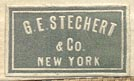 G.E. Stechert & Co., New York (20mm x 9mm, ca.1914)