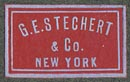 G.E. Stechert, New York (21mm x 12mm, ca.1914)