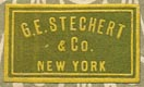 G.E. Stechert & Co., New York (21mm x 12mm, ca.1914)