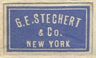 G.E. Stechert & Co., New York (21mm x 12mm, ca.1910)