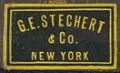G.E. Stechert & Co., New York  (21mm x 12mm, ca.1909)