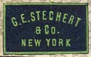 G.E. Stechert & Co., New York  (21mm x 12mm, ca.1902-1914?)