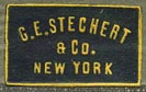 G.E. Stechert & Co., New York  (black/goldenrod, 21mm x 12mm, before 1914)