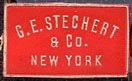 G.E. Stechert & Co., New York  (red/white, 21mm x 13mm, pre-1914)