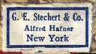 G.E. Stechert & Co., New York (22mm x 13mm, after 1921)