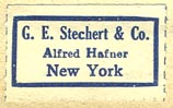 G.E. Stechert & Co., New York (25mm x 15mm)
