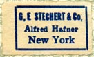 G.E. Stechert & Co., New York (22mm x 13mm).