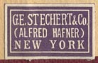G.E. Stechert & Co. (Alfred Hafner), New York (22mm x 13mm, ca.1930s)